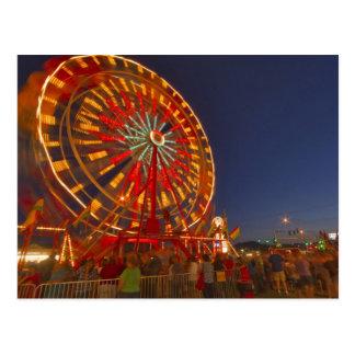 Carte Postale Roue de Ferris au crépuscule chez le Montana du