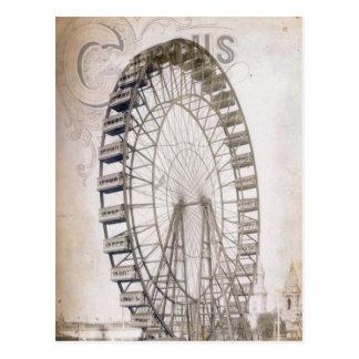 Carte Postale Roue de Ferris de cirque