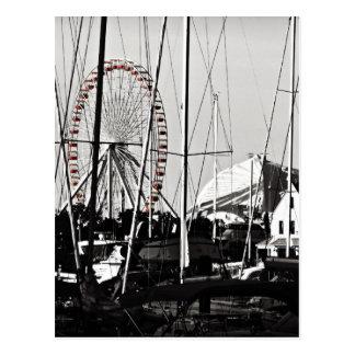 Carte Postale Roue de Ferris du pilier de marine