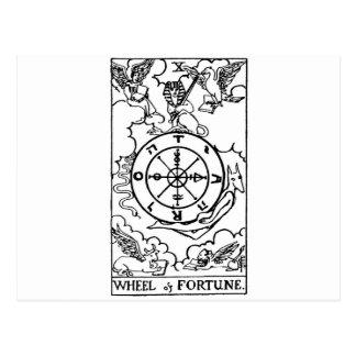 Carte Postale roue de tarot 'de fortune