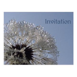 Carte Postale Roue d'invitation de gouttelettes