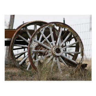 Carte Postale Roues de chariot
