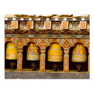 Carte Postale Roues de prière, roue de Mani chez Trongsa Dzong,