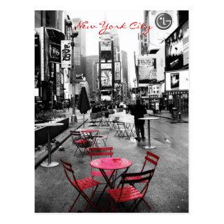 Carte Postale Rouge blanc noir carré de temps