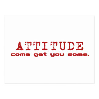 Carte Postale Rouge d'attitude