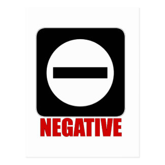 Carte Postale Rouge du négatif 1