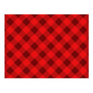 Carte Postale Rouge du plaid 2