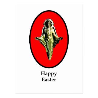 Carte Postale Rouge heureux de Cantorbéry d'image de Pâques le