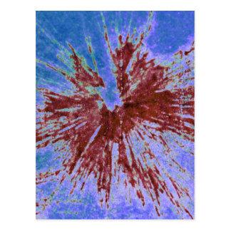 Carte Postale Rouge sur le Paintball pourpre et bleu