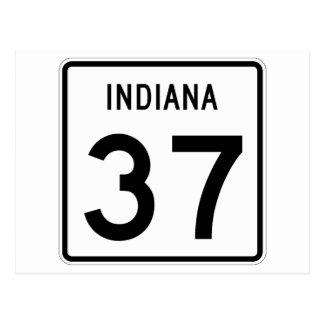 Carte Postale Route 37 d'état de l'Indiana