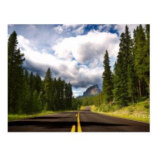 Carte Postale Route de forêt