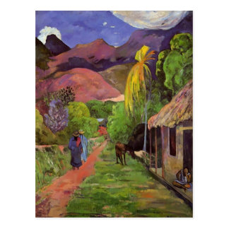 Carte Postale Route de Paul Gauguin- au Tahiti