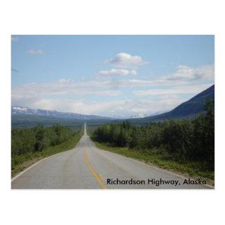 Carte Postale Route de Richardson, Alaska