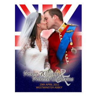 Carte postale royale de baiser de mariage de Willi