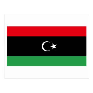 Carte Postale Royaume du drapeau de la Libye (1951-1969)
