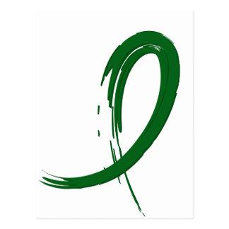 Carte Postale Ruban A4 du vert vert de l'affection hépatique