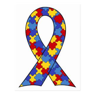 Carte Postale Ruban de sensibilisation sur l'autisme