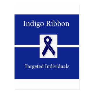 Carte Postale Ruban d'indigo dans la célébration