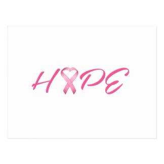 Carte Postale Ruban rose 2 de Cancer d'espoir