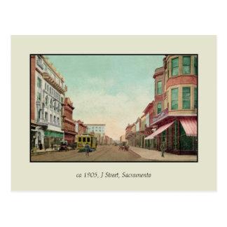 Carte Postale Rue 1905 J, Sacramento, calorie du cru