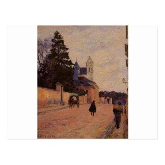 Carte Postale Rue à Rouen par Paul Gauguin