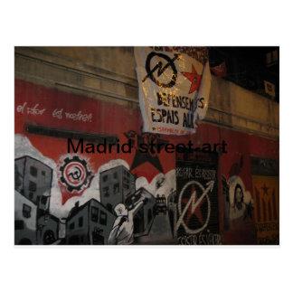 Carte Postale Rue-art de Madrid
