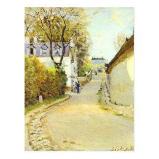 Carte Postale Rue dans Ville d Avray par Alfred Sisley