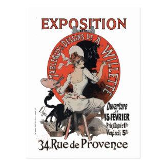 Carte Postale Rue De Provence d'exposition