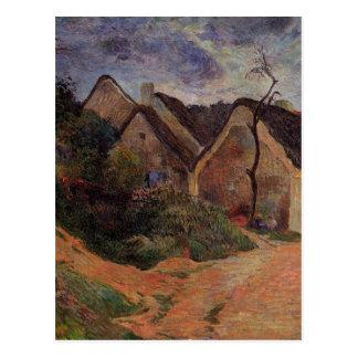 Carte Postale Rue de village, Osny par Paul Gauguin