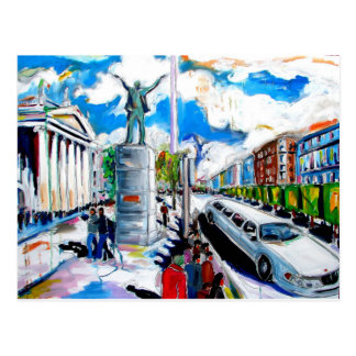 Carte Postale rue Dublin d'oconnell de monument de larkin