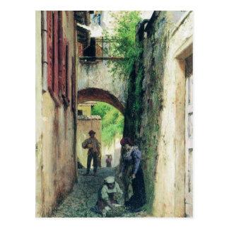Carte Postale Rue en Italie par Fyodor Bronnikov