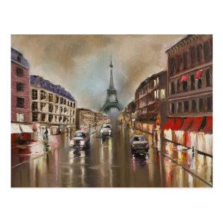 Carte Postale Rue pluvieuse de Quet