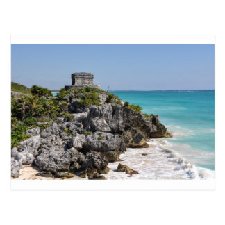 Carte Postale Ruines maya dans Tulum Mexique