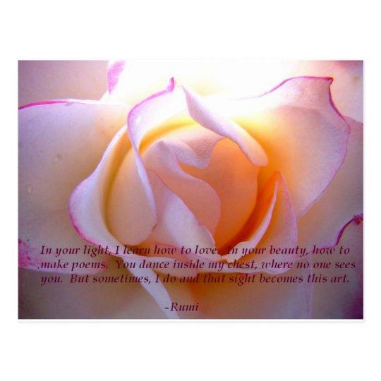 Carte Postale Rumi loverose postcard