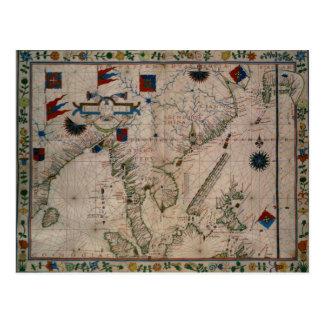 Carte Postale S.M. 41 l'Extrême Orient, d'un atlas portolan
