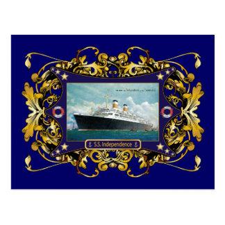 Carte Postale S.S. Paquebot de cru de l'indépendance