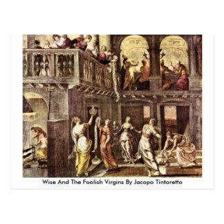 Carte Postale Sage et les vierges insensées par Jacopo