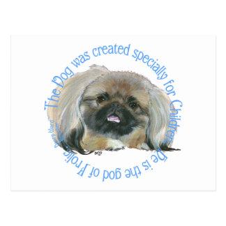 Carte Postale Sagesse de Pekingese - le chien est le dieu de