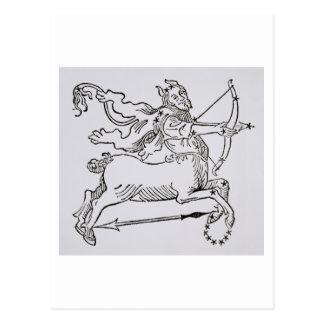 Carte Postale Sagittaire (le centaure) une illustration de