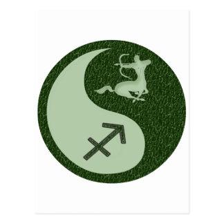 Carte Postale Sagittaire Yin Yang
