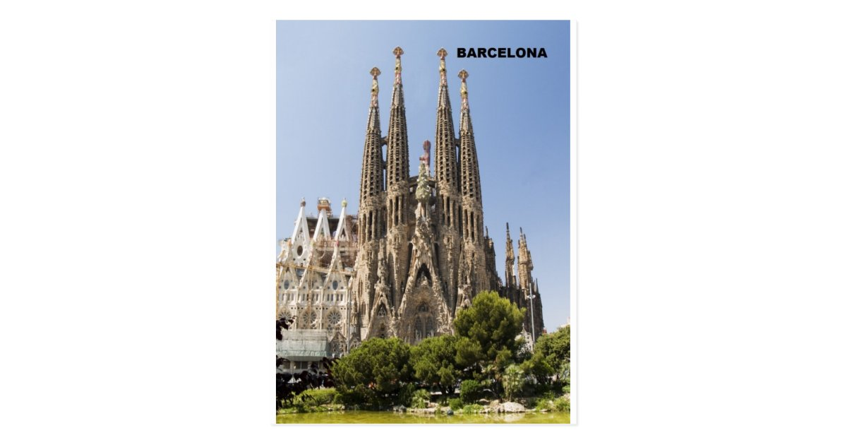 Carte Barcelone Place Despagne.Carte Postale Sagrada Familia Barcelone Espagne Zazzle Be