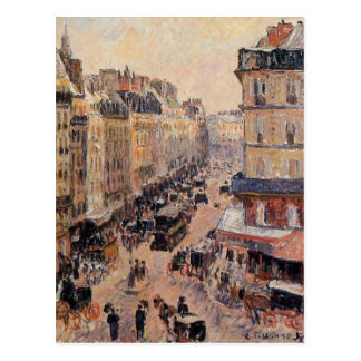 Carte Postale Saint Lazare de rue par Camille Pissarro