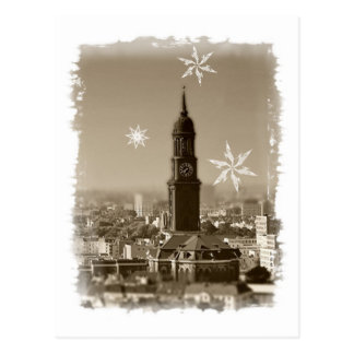 Carte Postale Saint michaelis église, Hambourg, weihnachtskarte