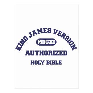 Carte Postale Sainte Bible du Roi James Version Authorized dans