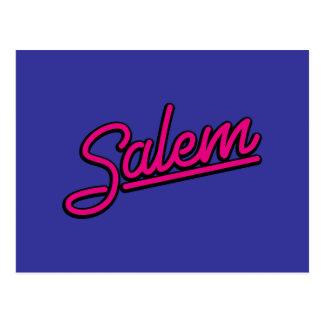 Carte Postale Salem en magenta