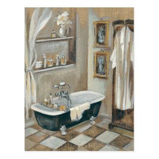 Carte Postale Salle de bains française neutre