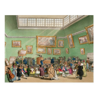 Carte Postale Salle des ventes de Christie, aquatinted par J.