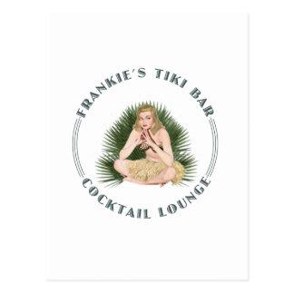 Carte Postale Salon de cocktail de fille de danse polynésienne