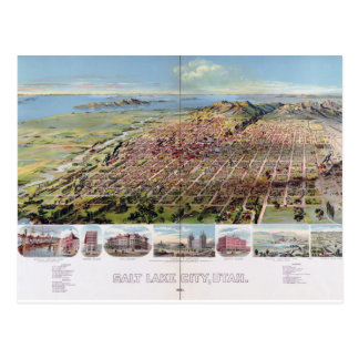 Carte Postale Salt Lake City, Utah (1891)