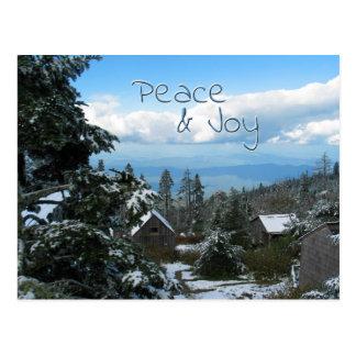 Carte Postale Salutation de paix et de joie à partir de dessus